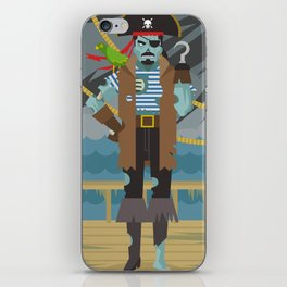 ghost pirate undead zombie in ship iPhone Skin