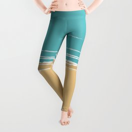 Ocean beach aerial view Leggings