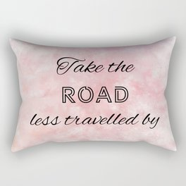 Take The Road Less Travelled By (black, red, violet) Rectangular Pillow