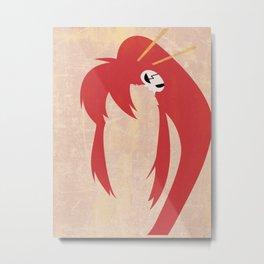 Minimalist Yoko Metal Print