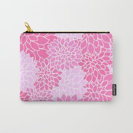 Pink Dahlias / Pink Floral / Pink Flowers Carry-All Pouch