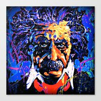 einstein Canvas Prints featuring Einstein by FEENNX