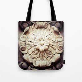 Wood Flower Tote Bag