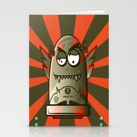 the fault Stationery Cards featuring Fault 45 01 (its not his fault) by Face Leakage