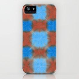 Shibori (blue and brown) iPhone Case