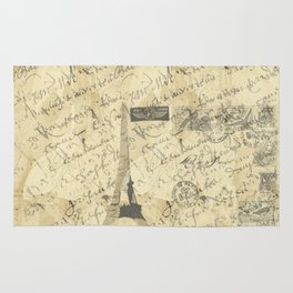 Parisian French Script Rug