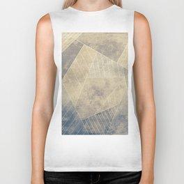 Geometric artwork on grunge textured background Biker Tank