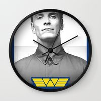 prometheus Wall Clocks featuring Prometheus - David 8 - Employee of the month by Yiannis