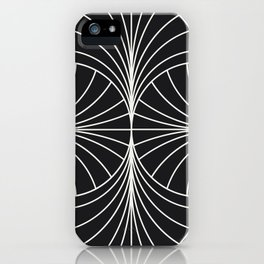 Diamond Series Inter Wave White on Charcoal iPhone Case