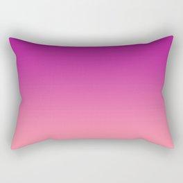 Fuchsia Carnation Pink Gradient Ombre Rectangular Pillow