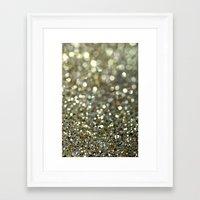 gold glitter Framed Art Prints featuring Gold Glitter by Hannah