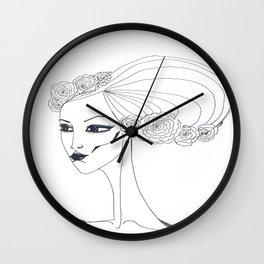 flowers in a hair Wall Clock