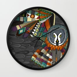 night owl charcoal Wall Clock