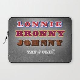 Lonnie, Bronny, Johnny Laptop Sleeve