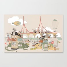City of animamaly Canvas Print