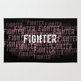 Fighter (On Black) Rug