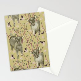 Little goats in spring Stationery Cards
