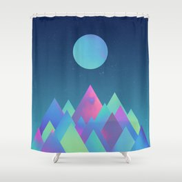 It's always night somewhere Shower Curtain