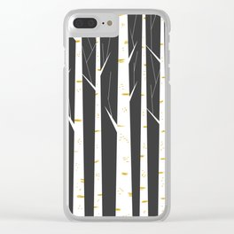 Birch forest Clear iPhone Case