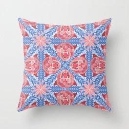 Pink Panther Pattern Throw Pillow
