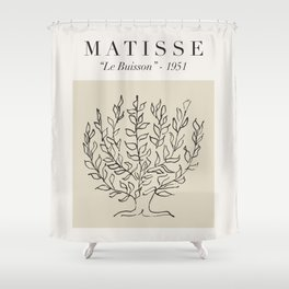 """Matisse - """"Le Buisson"""", Mid Century Abstract Art Decor Shower Curtain"""