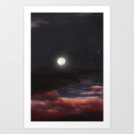 Dawn's moon Art Print