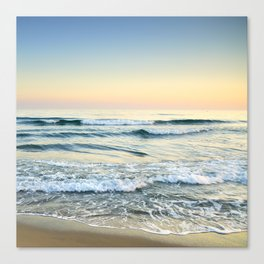 Serenity sea. Vintage. Square format Canvas Print