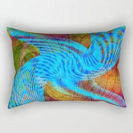 Blue emotion Rectangular Pillow