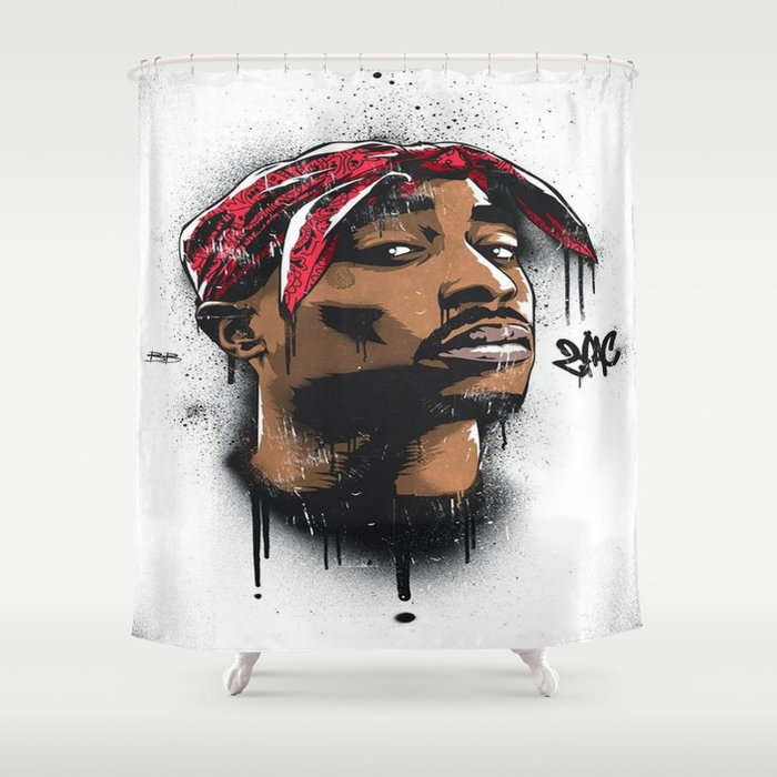 Tupacs Potrait Shower Curtain
