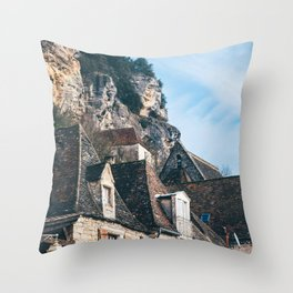 Homes of La Roque-Gageac Throw Pillow
