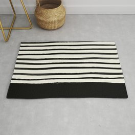 Black x Stripes Rug