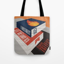 Fahrenheit 451, François Truffaut, minimal movie poster, french film, Ray Bradbury, book Tote Bag