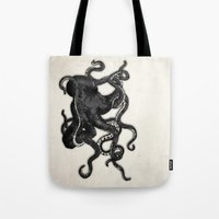 octopus Tote Bags featuring Octopus by Nicklas Gustafsson