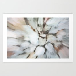 Abstract Pastel Shades.  Like painted on canvas. Art Print