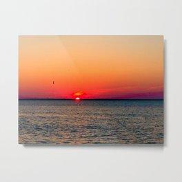 An LBI Sunset Metal Print