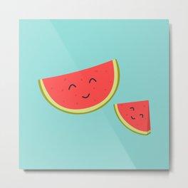 Happy Watermelon Metal Print