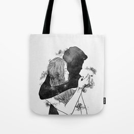 Cigarette smell. Tote Bag