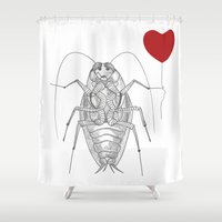 best friend Shower Curtains featuring BEST FRIEND by Faustine BLESSON