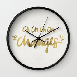 Bowie – Gold Ink Wall Clock