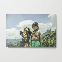 Hmong Innocence Metal Print
