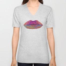 Flowered Lips Unisex V-Neck