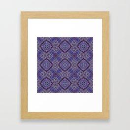 Purple Zen Doodle Pattern Framed Art Print