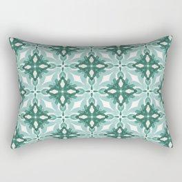 Watercolor Green Tile 2 Rectangular Pillow