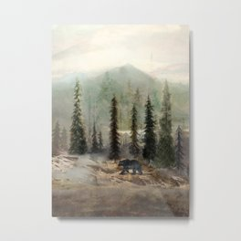 Mountain Black Bear Metal Print