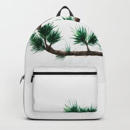 green pine tree painting Backpack