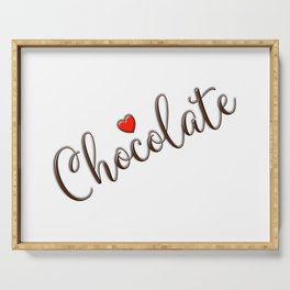 Love Chocolate for Christmas or Valentine's Day Serving Tray