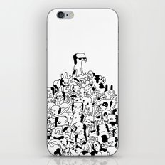 Pupper Pile iPhone & iPod Skin