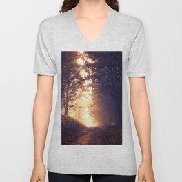 Woods at sunset Unisex V-Neck