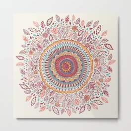 Sunflower Mandala Metal Print