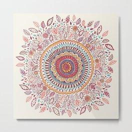 Sunflower Mandala Metal Print